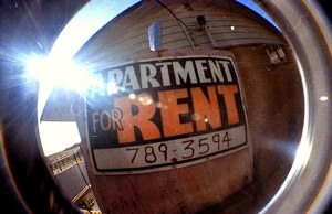 property manager for rent sign