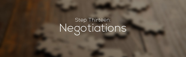 13 Negotiations