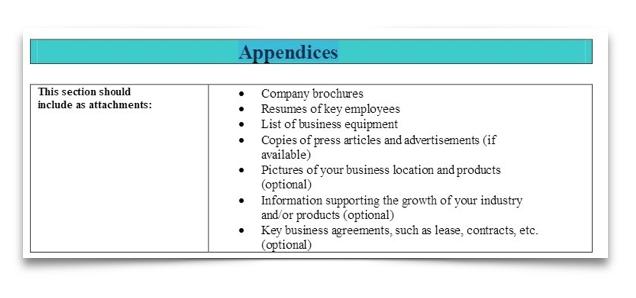 9 Appendices